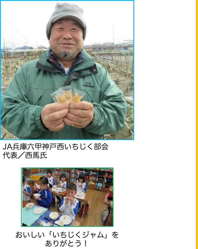 神戸市学校給食で提供されたいちじくジャムの紹介画像